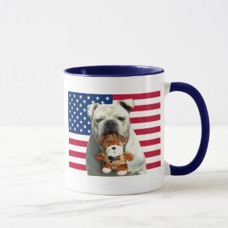 Patriotische Bulldoggen-Tasse Tasse