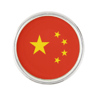Patriotische chinesische Flagge Anstecknadel