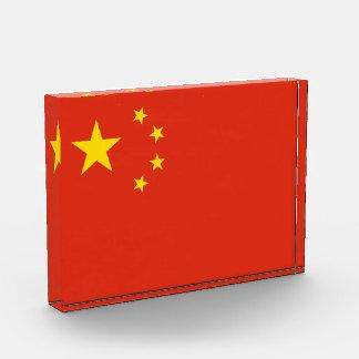 Patriotische chinesische Flagge Auszeichnung