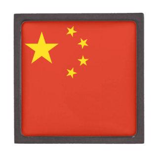 Patriotische chinesische Flagge Kiste