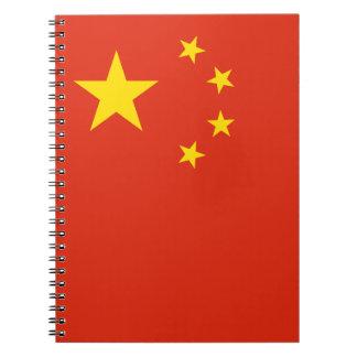 Patriotische chinesische Flagge Spiral Notizblock