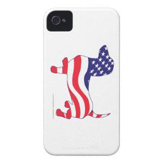 Patriotische Dackel iPhone 4 Case-Mate Hüllen