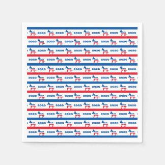 Patriotische Demokrat-Esel-Streifen 2020 Papierservietten