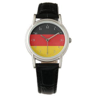 Patriotische deutsche Flagge Armbanduhr