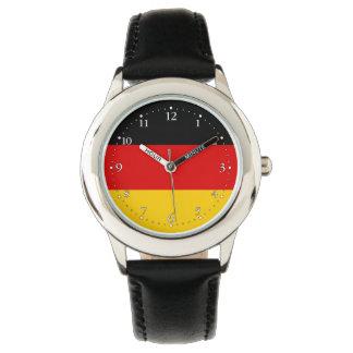Patriotische deutsche Flagge Uhr