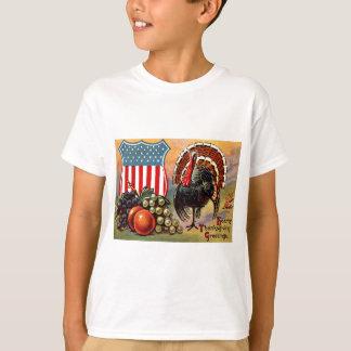 Patriotische die Erntedank-Türkei-Frucht T-Shirt