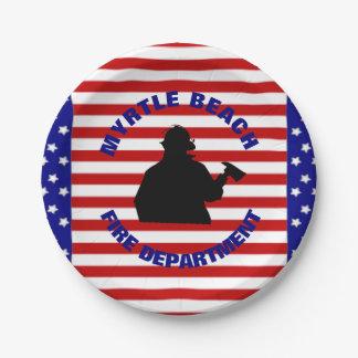 Patriotische Feuerwehr-Feier Pappteller