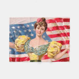Patriotische Flagge-Dame Fleecedecke