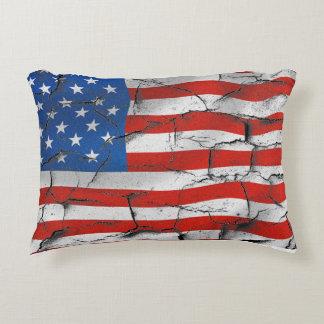 Patriotische Flagge-gebrochene getragene Farbe Zierkissen