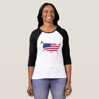 Patriotische Flagge-Karte der Vereinigten Staaten T-Shirt