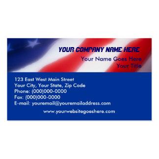 Patriotische Flagge-Visitenkarten