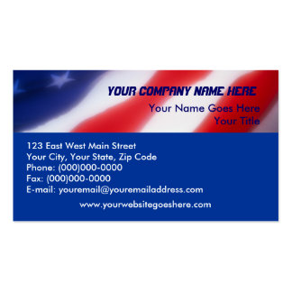 Patriotische Flagge-Visitenkarten Visitenkarten