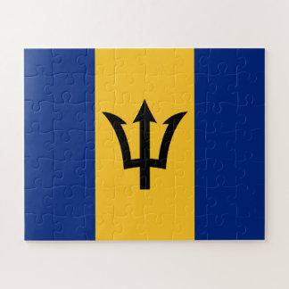 Patriotische Flagge von Barbados Puzzle