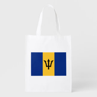Patriotische Flagge von Barbados Wiederverwendbare Einkaufstasche