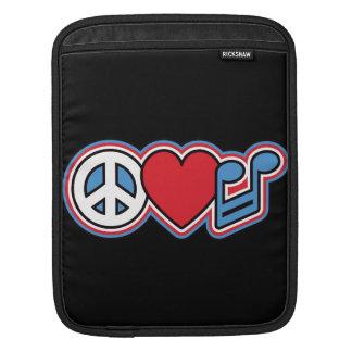 Patriotische FriedensLiebe-Musik Sleeve Für iPads