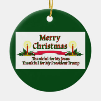 Patriotische frohe Weihnachten Keramik Ornament