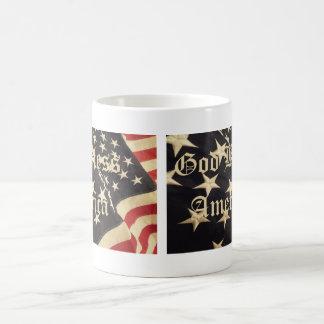 """Patriotische """"Gott segnen Amerika"""" Tasse"""