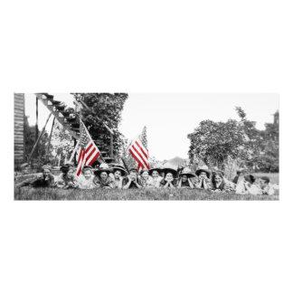Patriotische Gruppen-Frauen-amerikanische Flagge Fotodruck