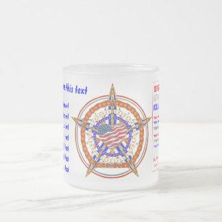 Patriotische Herz-Ansicht über Entwurf unten Matte Glastasse