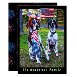 Patriotische Hunde-u. Karte