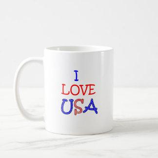 Patriotische i-Liebe USA Kaffeetasse