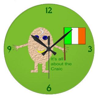 Patriotische irische Ei-Wanduhr Große Wanduhr