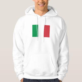 Patriotische italienische Flagge Hoodie