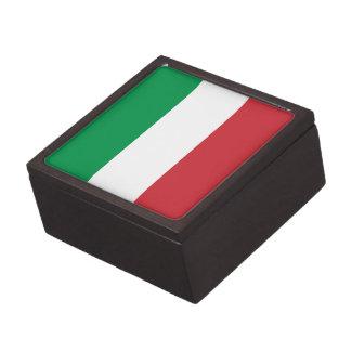 Patriotische italienische Flagge Kiste