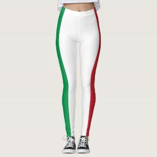 Patriotische italienische Flagge Leggings