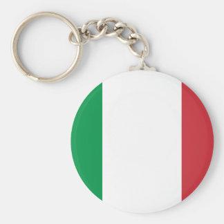 Patriotische italienische Flagge Schlüsselanhänger