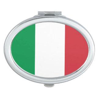 Patriotische italienische Flagge Taschenspiegel