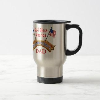 Patriotische Kaffee-Tassen sind personalisierte Va