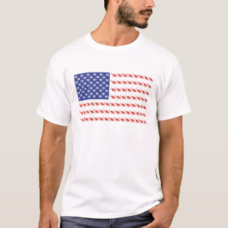 Patriotische Katzen-Flagge T-Shirt