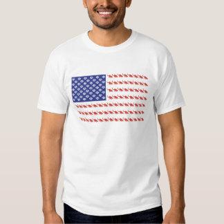 Patriotische Katzen-Flagge T Shirts