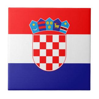 Patriotische kroatische Flagge Keramikfliese