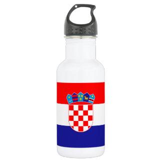 Patriotische kroatische Flagge Trinkflasche