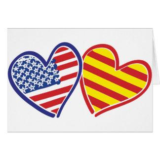 Patriotische Liebe-Herzen USA Katalonien Karte