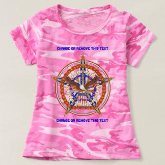Patriotische Logo USA-Frauen Front u. Rückseite T-shirt