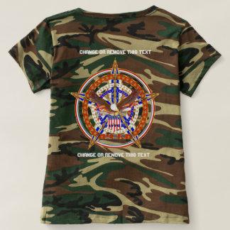 Patriotische Logo USA-Frauen unterstützen nur T-shirt