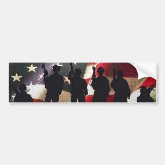 Patriotische Militärsoldat-Silhouette Autoaufkleber