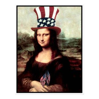Patriotische Mona Lisa - bereiten Sie für Postkarte