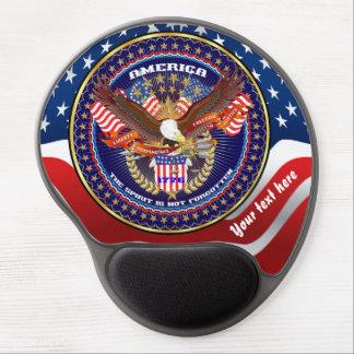 Patriotische oder Veteranen-Ansicht über Entwurf Gel Mousepad