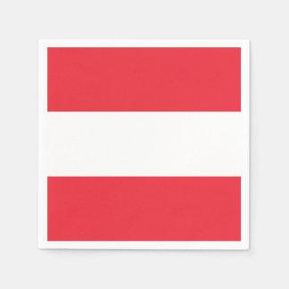 Patriotische österreichische Flagge Papierserviette