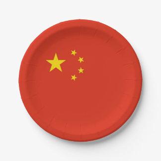 Patriotische Papierplatte mit Flagge der China Pappteller