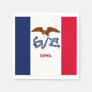 Patriotische Papierservietten mit Flagge von Iowa