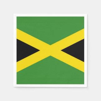 Patriotische Papierservietten mit Jamaika-Flagge