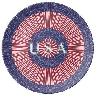 Patriotische Porzellan-Platte USA Teller Aus Porzellan