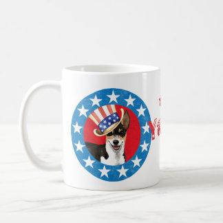 Patriotische Ratte Terrier Kaffeetasse