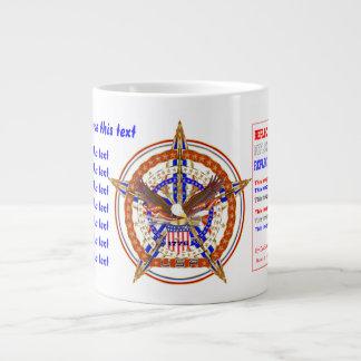 Patriotische RIESIGE Tassen-Ansicht über Entwurf Extragroße Tasse