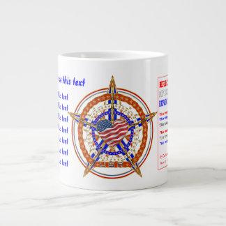 Patriotische RIESIGE Tassen-Ansicht über Entwurf Extragroße Tassen